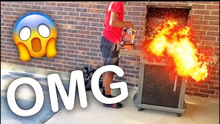 THE GRILL ALMOST BLEW UP !!
