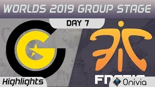 CG vs FNC Highlights Worlds 2019 Main Event Group Stage Clutch Gaming vs Fnatic by Onivia
