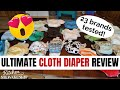 23 Brands! Comprehensive Cloth Diaper Review