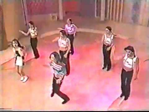 Sandy e Junior no programa Domingo no Palco - TV Manchete   1997