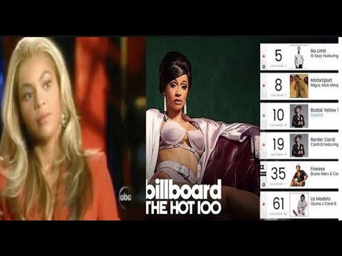 Cardi B OVER TOPS Beyonce to Become The 1st Woman With 5 hits in the Top 10 R&B/Hip-Hop Chart