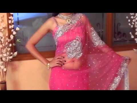 Pink Net Saree For Wedding