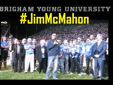 JIM MCMAHON JERSEY RETIRED! BYU HALL OF FAME & HIGHLIGHT!