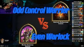Even Warlock vs Odd Control Warrior - Hearthstone
