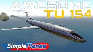 Awesome Russian Plane - TU  154 - Simple Planes