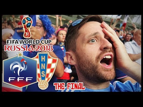 I WENT TO THE WORLD CUP FINAL! FRANCE vs CROATIA! - RUSSIA 2
