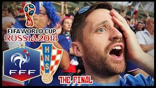 I WENT TO THE WORLD CUP FINAL! FRANCE vs CROATIA! - RUSSIA 2018