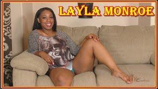 Лэйла Монро (Layla Monroe) - чернокожая порно звезда с большой попой в фото и видео.