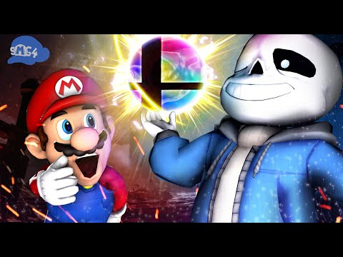 SMG4: Sans's First Day In Smash Bros