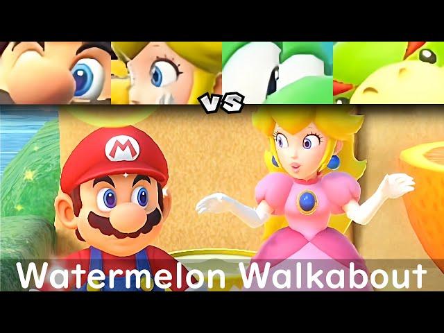 super mario party mario and peach vs yoshi and bowser jr
