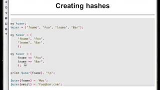 Beginner Perl Maven tutorial: 7.2 - creating a hash