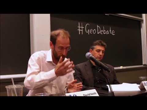 Geoengineering Debate  David Keith responds to Chemtrails