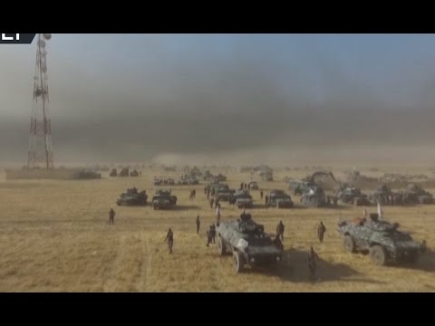 Mosul op drone view: Iraqi army preparing for offensive