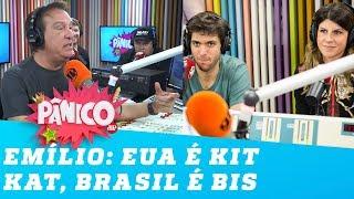 Bis e Kit Kat: Emílio explica a diferença entre Brasil e Estados Unidos