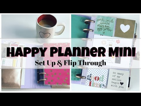 Happy Planner Mini Set Up & Flip Through | FrankenPlanner Chunky Mini