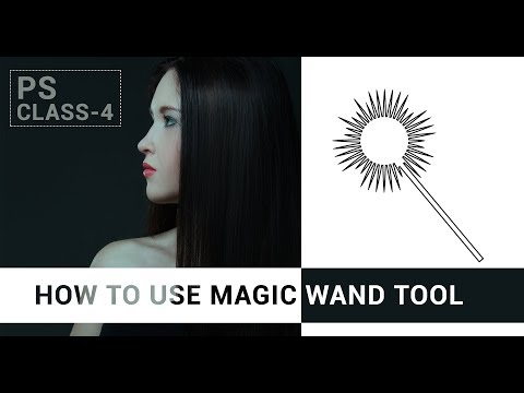 How To Use Magic Wand & Quick Selection Tool In Photoshop | How To Use Magic Wand Tool In Photoshop