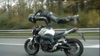 Crazy guy doing insane stunts on bike