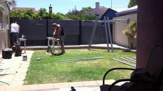 Building The Screen Fence