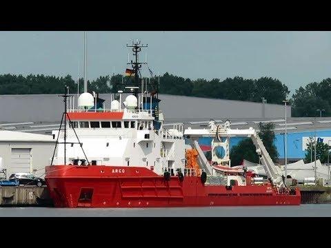 offshore special vessel ARGO SVAH9 IMO 7432109 Emden BJ 1976
