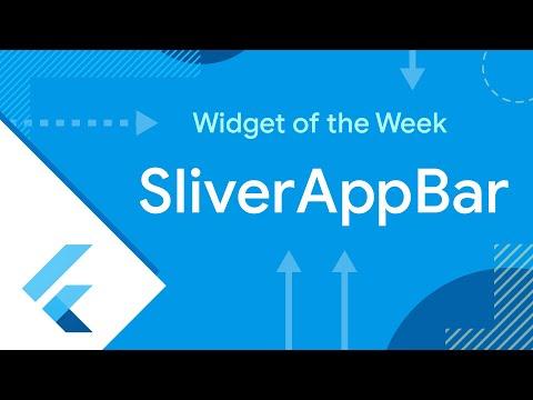 SliverAppBar (Flutter Widget of the Week)