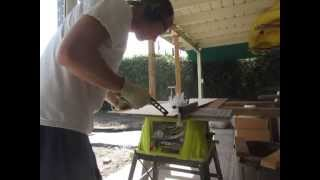 Testing out the RYOBI 10 in. 15 Amp Table Saw