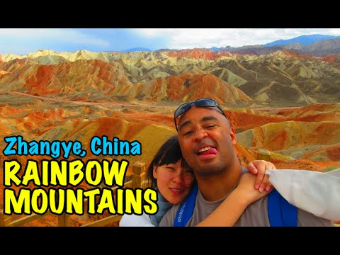 China's Danxia Landform Rainbow Mountains in Zhangye Danxia Geological Park | Don's ESL Adventure!