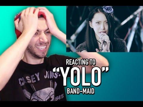 "REACTING TO BAND-MAID ""YOLO"""