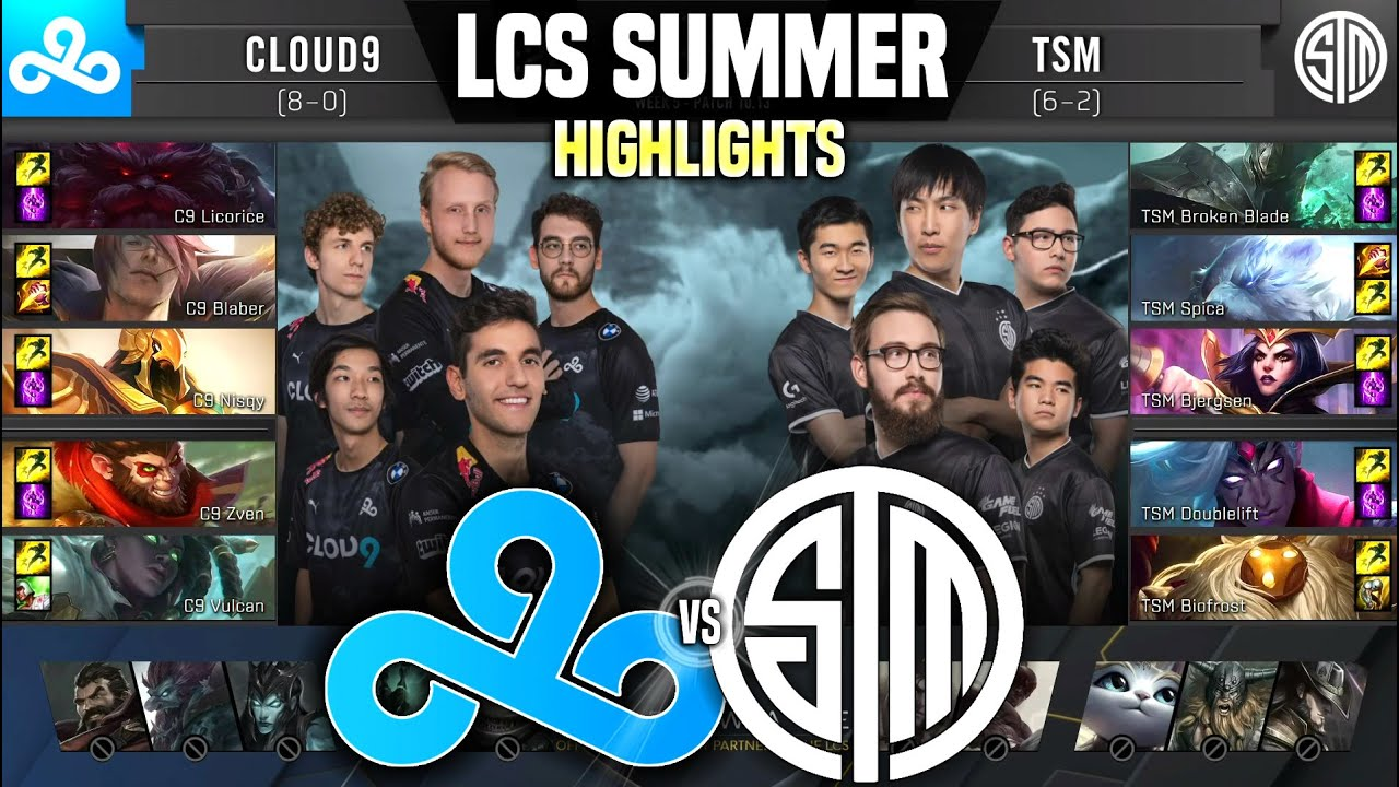 C9 vs TSM Highlights LCS Summer W5D2 - Cloud9 vs Team SoloMid Highlights LCS Summer W5D2