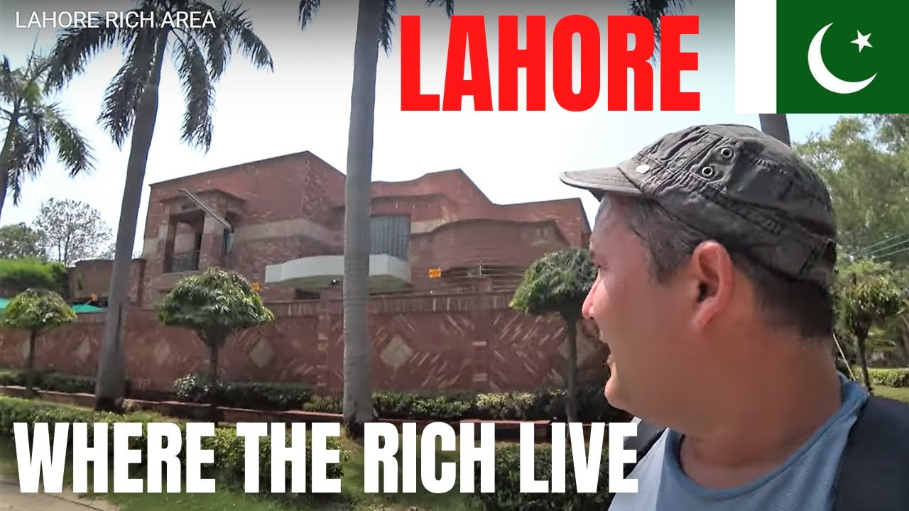 LAHORE - WHERE THE RICH AND FAMOUS LIVE / WALK THROUGH ONE OF THE POSH AREAS / PAKISTAN TRAVEL VLOG