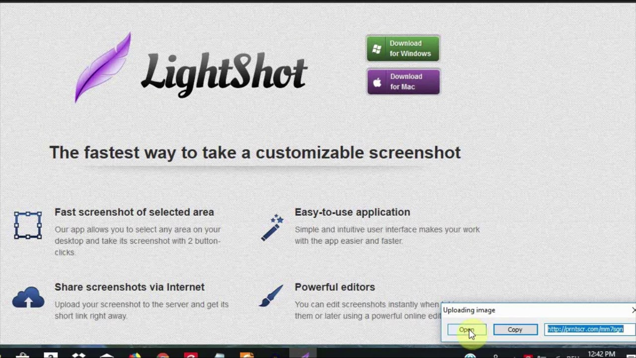 How to take a screenshot with LightShot for Windows and