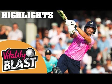 Surrey v Middlesex | Malan Strikes Stunning Century |  Vitality Blast 2019 - Highlights