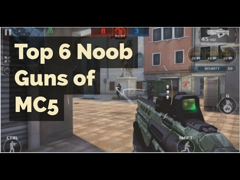 Top 6 Noob /Overpowered Guns of MC5. Modern Combat 5 PC Game play by IPF Gaming.
