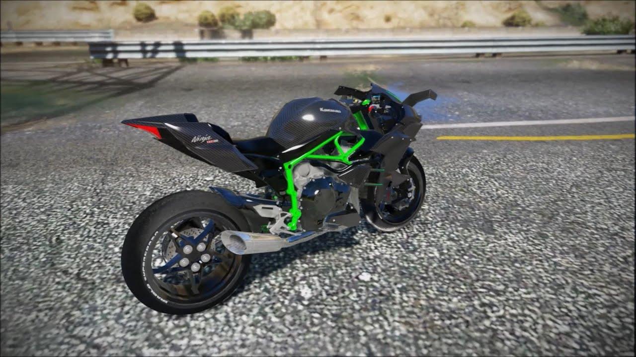 gta 5 kawasaki ninja h2r 438 km h youtube gta 5 kawasaki ninja h2r 438 km h