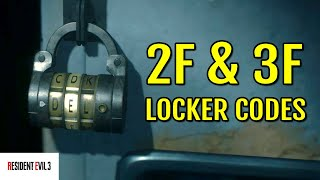 2nd and 3rd Floor Locker Code Locations (Police Station)   Resident Evil 3 Remake
