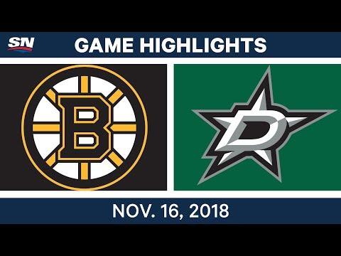 NHL Highlights | Bruins vs. Stars – Nov. 16, 2018