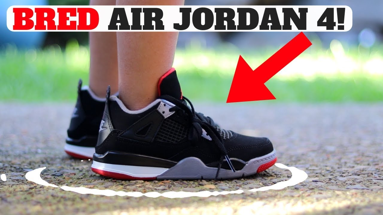 2cf3d81aa7f THE ONLY AIR JORDAN 4 BRED UNBOXING YOU NEED TO SEE 😂 - YouTube