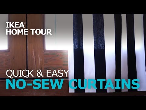 Quick & Easy DIY No-Sew Curtains - IKEA Home Tour