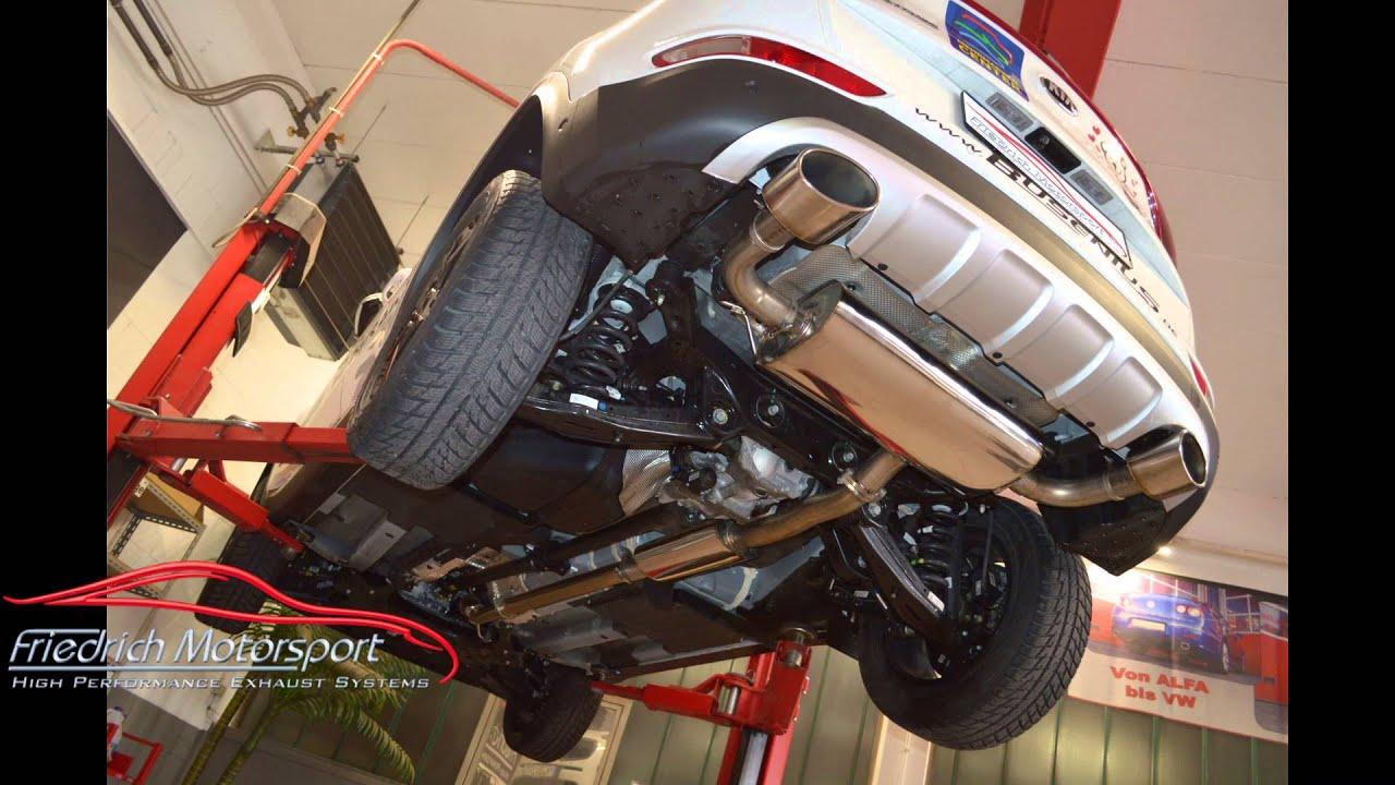 Friedrich Motorsport Sportauspuff KIA Sportage QL 1.6 T-GDI 70mm ...