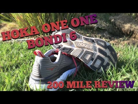 HOKA ONE ONE BONDI 6 REVIEW AFTER 200 MILES!! BEST SHOE EVER?
