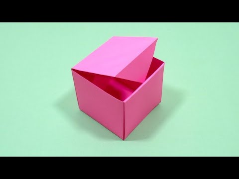 How to make a paper box that opens and closes very (easy)