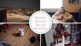 Blizzard, Stomach Flu and a lot of Shovelling l Amandaandlola VLOGS