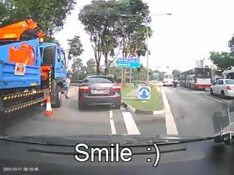Nice & friendly road-site worker
