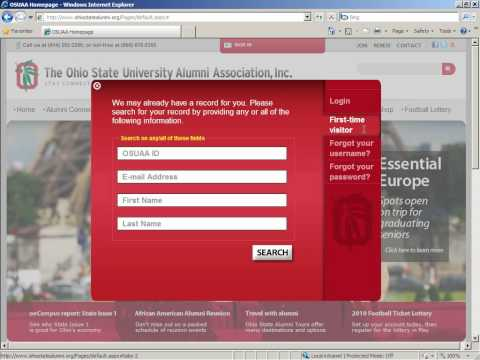 Setting up your Alumni Association online account