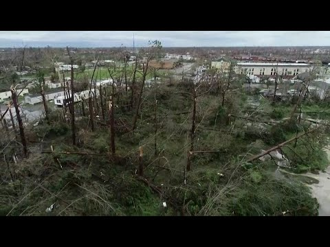 Raw video of Hurricane Michael damage in Panama City, Florida