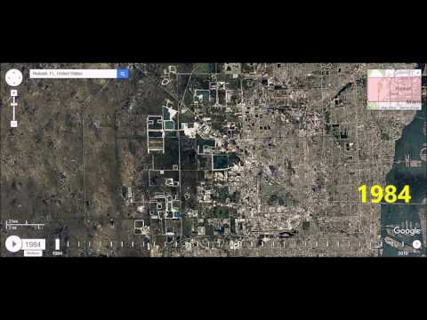 Hialeah, Florida - Urban Sprawl Time Lapse