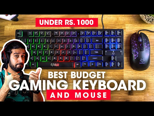 Best Budget Gaming Keyboard and Mouse 2020 🔥 Amkette Evofox Fireblade and Phantom Unboxing  Review