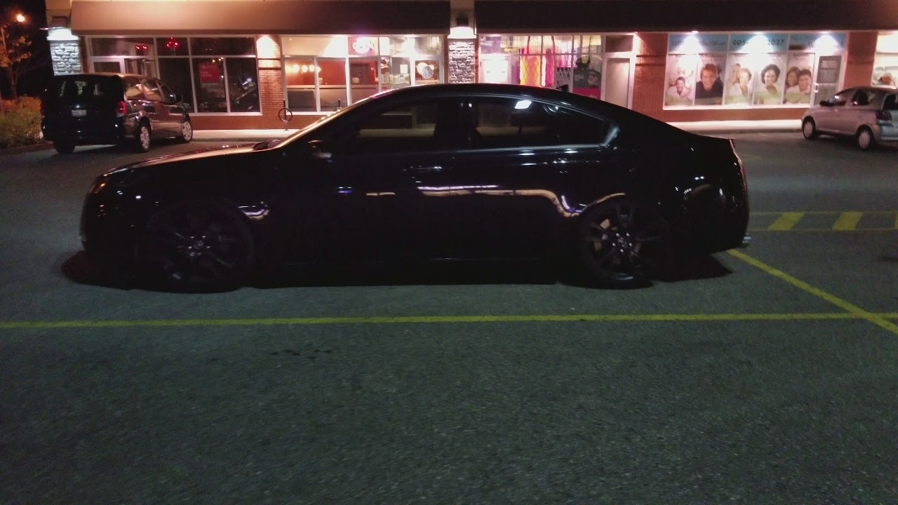 Acura TL Lowered On OEM Elite Wheels Murdered Out YouTube - Acura tl oem wheels