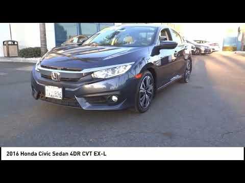 2016 Honda Civic Sedan Pasadena Los Angeles Glendale Alhambra Cerritos Orange County 00516534