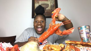 Lobster, shrimp, crab legs, crawfish, ect MUKBANG