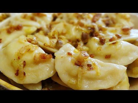 Вареники с картошкой, луком и салом! Вкусный рецепт вареников